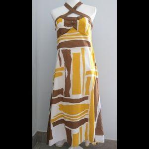 Beautiful and Unique safari halter dress